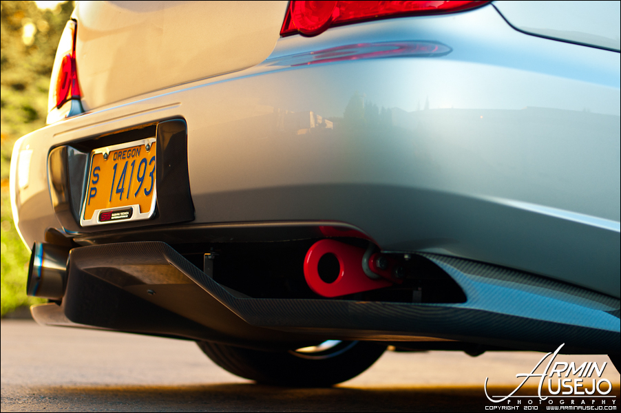 Jeff Hill's 05 STI rear diffuser