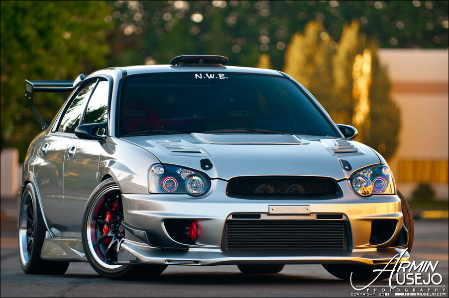 Jeff Hill's 05 STI front three quarter shot