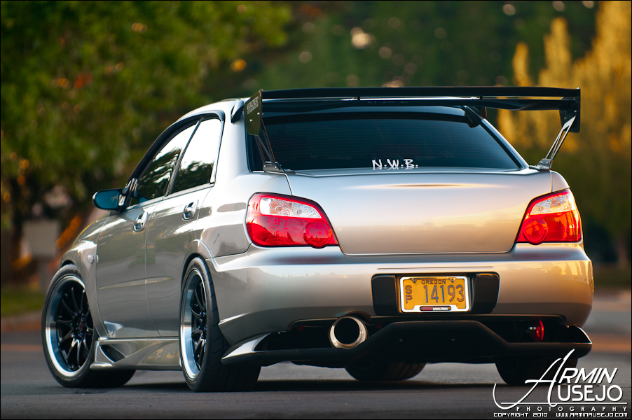 Jeff Hill's 05 STI rear three quarter shot