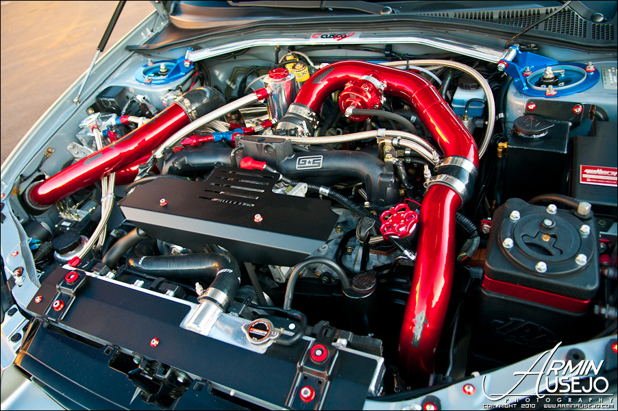 Jeff Hill's 05 STI engine bay