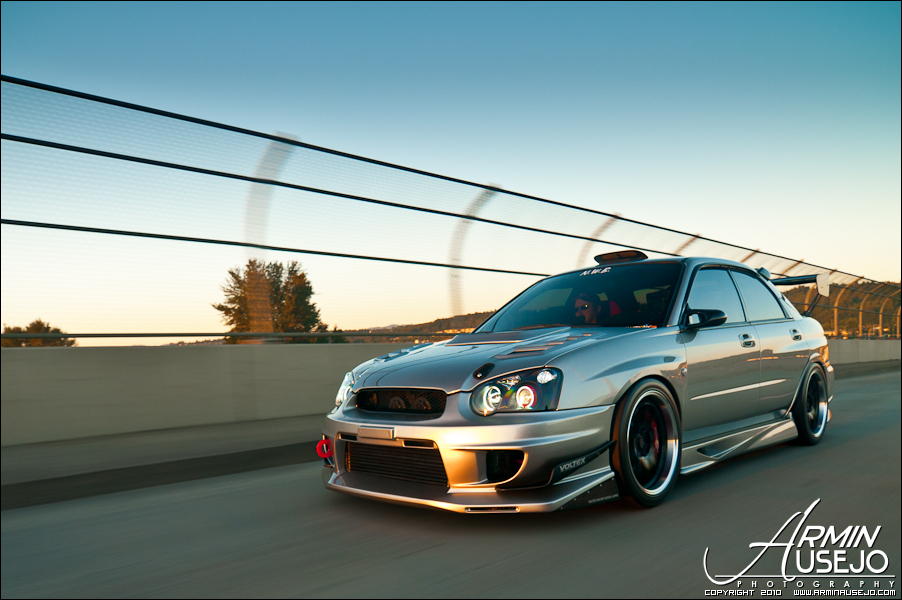 Jeff Hill's 05 STI rolling shot