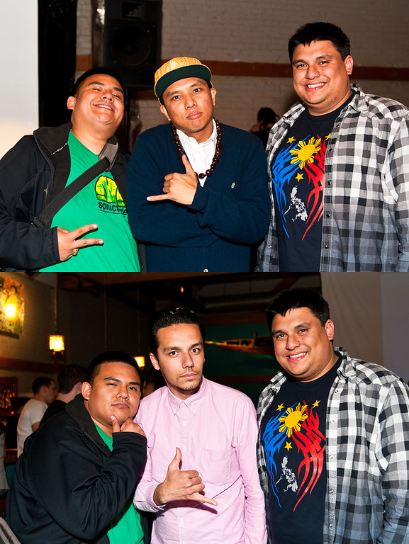 Wence and I with Geo and Sabzi of Blue Scholars