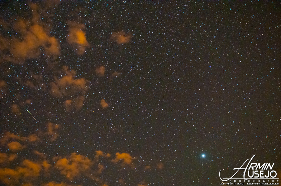 Shooting Star and Jupiter