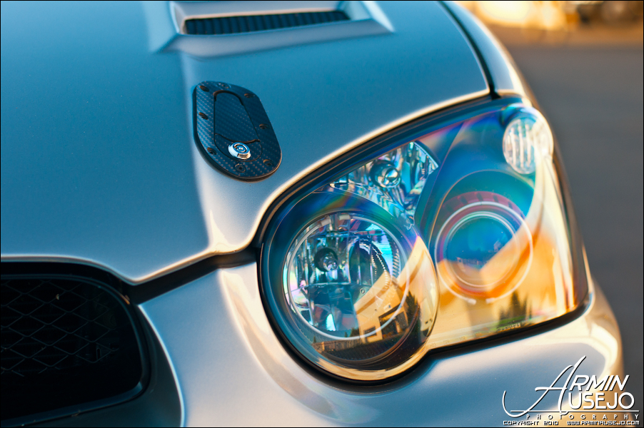 Jeff Hill's 05 STI headlight closeup